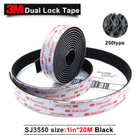 3M SJ3550 self adhesive dual lock black tape with self adhesive Dual Lock tape 25.4mm*20M