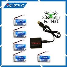 5 pc Lipo Batterie 3.7 v 400 mAh 30C pour JJRC H31 Étanche Drone D'origine Li-Batterie H31-011 JJRC H31 Batterie + 5in1 câble chargeur