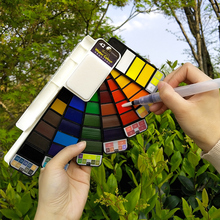 18/25/33/42 Color Solid Watercolor Paint Set Hand-painted Portable Fan-Shaped Water Pigment For Drawing Dropshipping