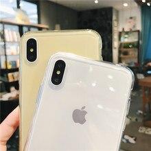 Lovebay para iPhone 7 teléfono caso claro Color caramelo sólido para iPhone 11 Pro XS Max 6 6s 7 7 Plus X XR suave de silicona TPU cubierta