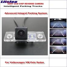 Liislee Rear Camera For Volkswagen VW Polo Sedan 2003~2008 Intelligent Parking Tracks Reverse / Dynamic Guidance Tragectory
