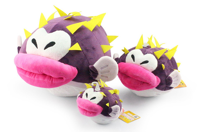 Розничная New Super Mario Bro Плюшевые игрушки Supermario Рыбы Фугу Плюшевые Куклы 38*24 см Бесплатная Доставка