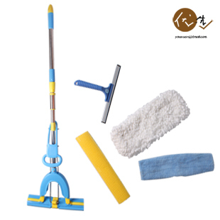 Totole multifunctional 1 + 1 combination mop colloxylin drag flat pva mop