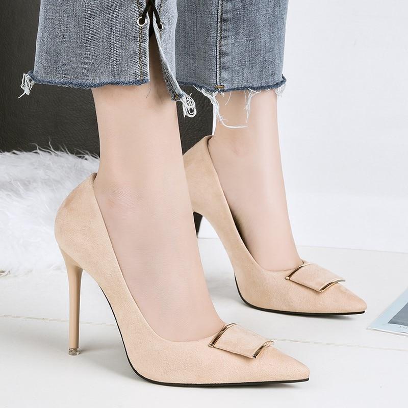 De Red Zapatos Heels Altos Mujeres Apricot heels Sexy Mujer {d Fiesta heels Moda Tacones Para Henlu} amp; Negros Oficina Gray Hebilla Black heels Bombas Rojo CTSIq