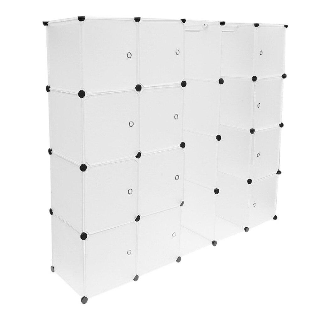 12 rejillas + 2 filas armarios Simple caja de almacenamiento de resina gabinete DIY montado Extra grande mágico niño organizador de armario guardarropa - 3