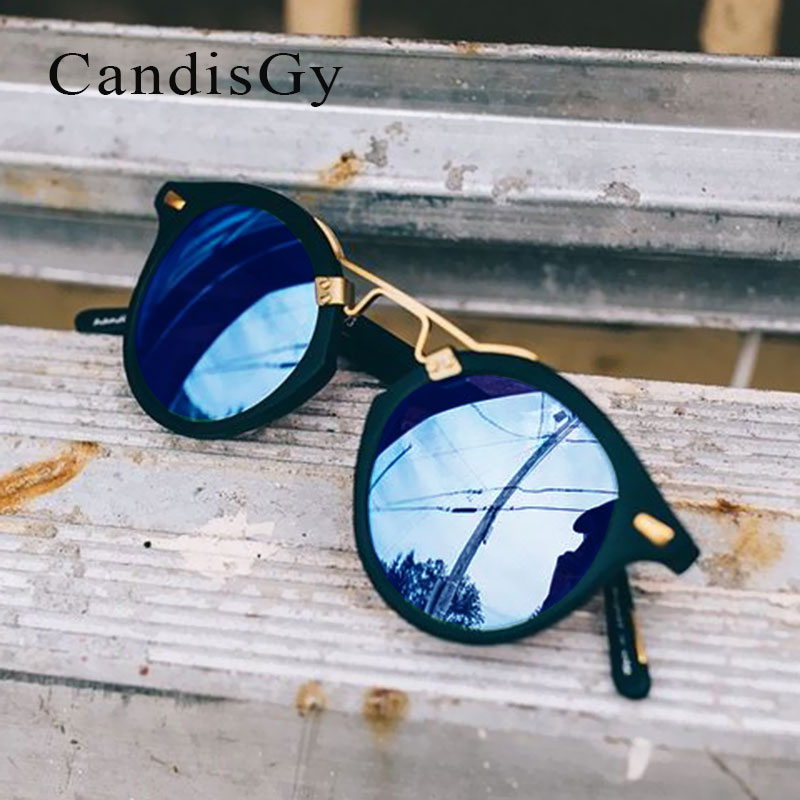 Round Brazil Hot Sunglasses Men Women Famous Brand Designer Mirror Sun Glasses Male Female Shades UV400 Shop online