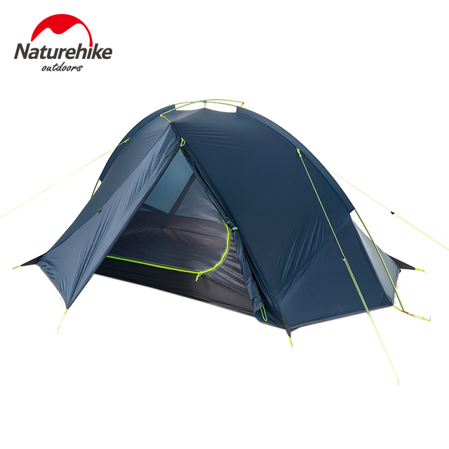 Naturehike 2 Person Hiking Tent Pro 20D Silicone Fabric Waterproof Single Pole Light Tent NH Camping Cycling Backpacking