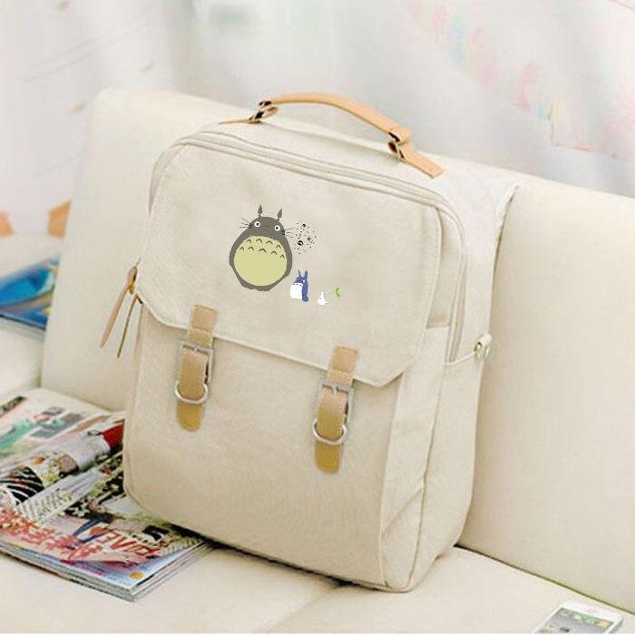 Anime Tonari no Totoro Cosplay Student bag female canvas shoulder bag animation backpack birthday gift