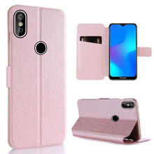 Magnet Silk Flip Case For For Doogee Y8 Case PU Leather Phone Wallet Cover Funda for Doogee Y8 Case Card Holder Coque 6.1
