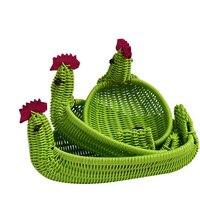 Caioffer卸売3ピース1セット籐織収納アヒル形状バスケット用おもちゃ化粧品装飾品ヘッドセット食品cd (cx 003a)