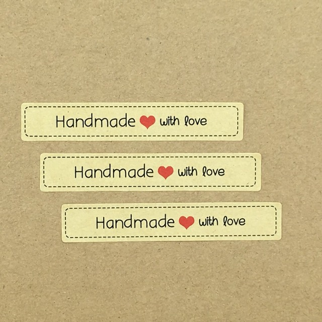 1000pcs paper sticker labels love self adhesive stickers kraft label sticker diy hand made gift