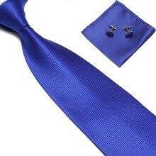 Мужские галстуки, запонки, свадебные мужские галстуки, модные аксессуары, галстуки для работы, черные, синие, красные, свадебные галстуки, Карманный платок