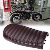 MAYITR Vintage Flat Brat Styling Motorcycle Cafe Racer Seat Saddle for Honda CB350 CB450 CB750