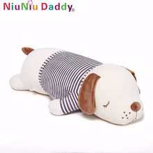 Niuniu Daddy Plush Cute Puppy Dolls Pet Soft New Pillow Creative Lying Dog Stuffed Animal Kid Toys Birthday Gifts For Children(China)