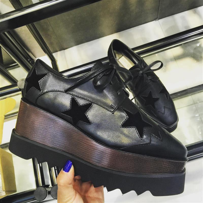Oxfords Zapatos De la Mujer de Encaje Plataforma Estrella de Las Enredaderas de