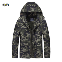 Idopy Men S Military Style Camouflage Jacket Hooded Tactical Outdoors US Army Long Sleeve Multi Pockets