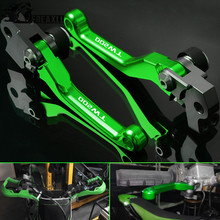 цены CNC Aluminum Motocross Motorcycle Accessories Dirt Bike Pit Pivot Brake Clutch Levers Handle For YAMAHA TW200 TW 200 2000-2017