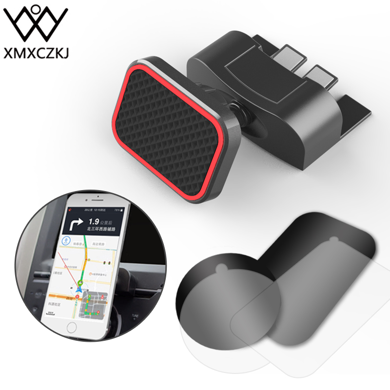 XMXCZKJ Mobile Phone Holder Magnetic CD Slot Mount Smartphone Stand For IPhone XS X Max Magnet Support Cell Phone Holder In Car