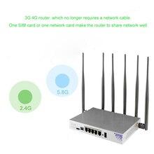 רב פונקציה תעשייתי אלחוטי נתב 3G 4G מודם Wifi עם כרטיס ה sim חריץ 1200 Mbps Gigabit נתב תמיכת משרד ובית