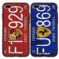 Fashion Cool Car License Plate Letter Number Phone Cases for iPhone 7 7 Plus 6 6s 6Plus 6sPlus 5 5s SE Soft Back Fundas Coque