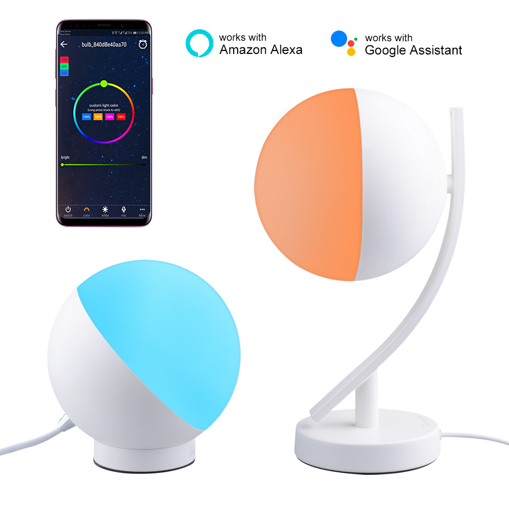 BB Speaker Night Light Desk Lamp Smart Wifi Table Light Led Desk Lamp 220V/Rechargeable/Dimmable Phone App Control Desk Lamps цена