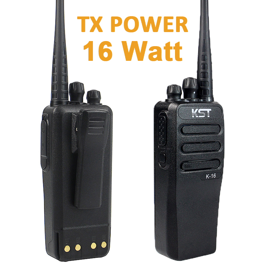 16W Real Power Mobile Two Way Radio DC12V Walkie Talkie KST K16 10KM Long Range Portable FM Transceiver With 4000Mah Battery