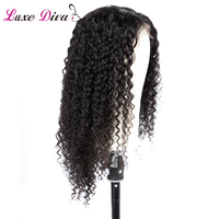 LUXEDIVA Kinky Curly Lace Front Wigs Pre Plucked Peruvian Hair Lace Wig 13*4 Lace Front Human Hair Wigs Non Remy Hair extension