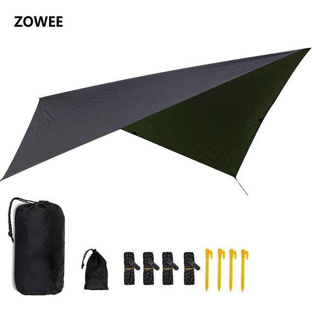 Ultralight Outdoor Draagbare Hangmat Luifel Opknoping Tent Slijtvaste Grote Multi Functionele Mat Vouwen Uv Proof Waterdicht