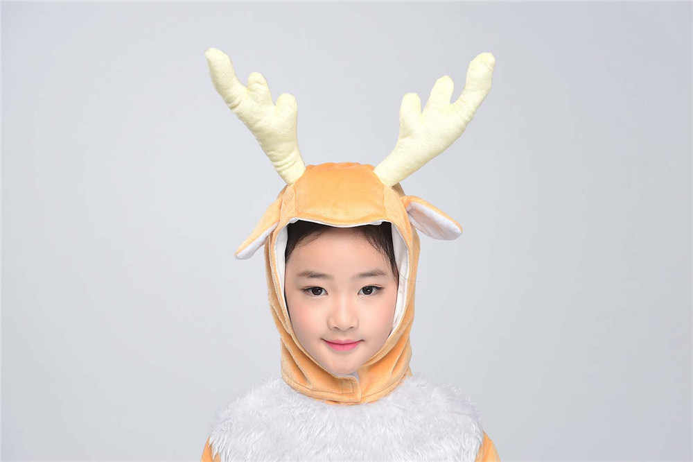 9851bac80778 ... Kids Deer Costume Little Elk Animal Onesies Fancy Dress Jumpsuit with  Headwear Gloves Toddlers Children Carnival ...