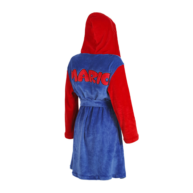 Mario Costumes Costumes Coral Velvet Bathrobe Pajamas Leisure Wear  Party Suitable For Men And Women