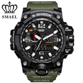 Mens Sport Watches Dual Display Watch SMAEL Brand Electronic Quartz Watches Male Analog Aigital LED Swimming Military wristwatch