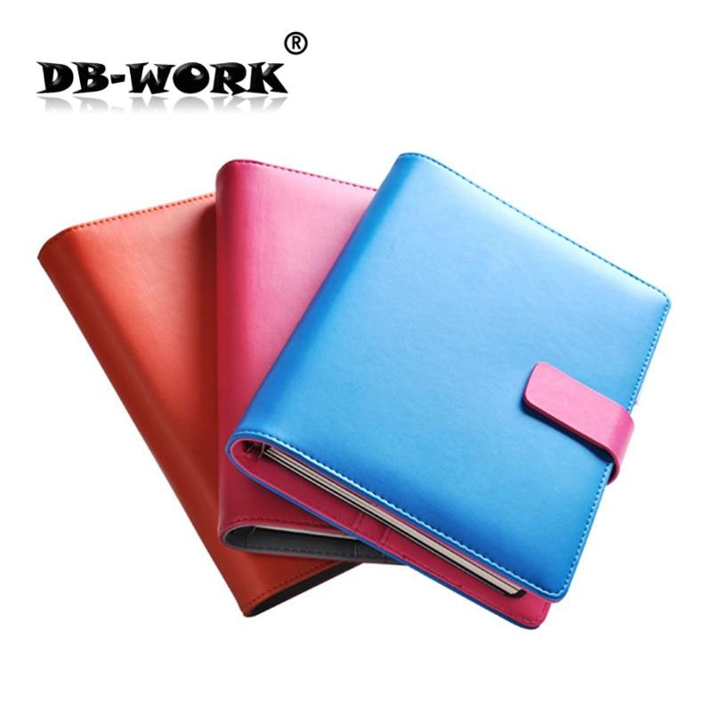 2019 Mode Business notebook Business lösblad anteckningsbok A5 anteckningsbok med räknare Multifunktionell lösa blad