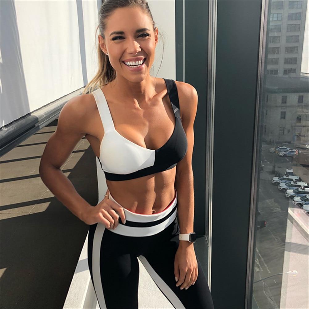Yoga Sets New Yoga Suits Women Gym Clothes Fitness Running Tracksuit Sports Bra+sport Leggings+yoga Shorts+top 2 Piece Set Sports & Entertainment
