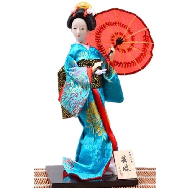 Indah Geisha Boneka kimono boneka dengan payung gaya jepang dekorasi rumah  kerajinan hiasan kantor anak hadiah ac24894b0c