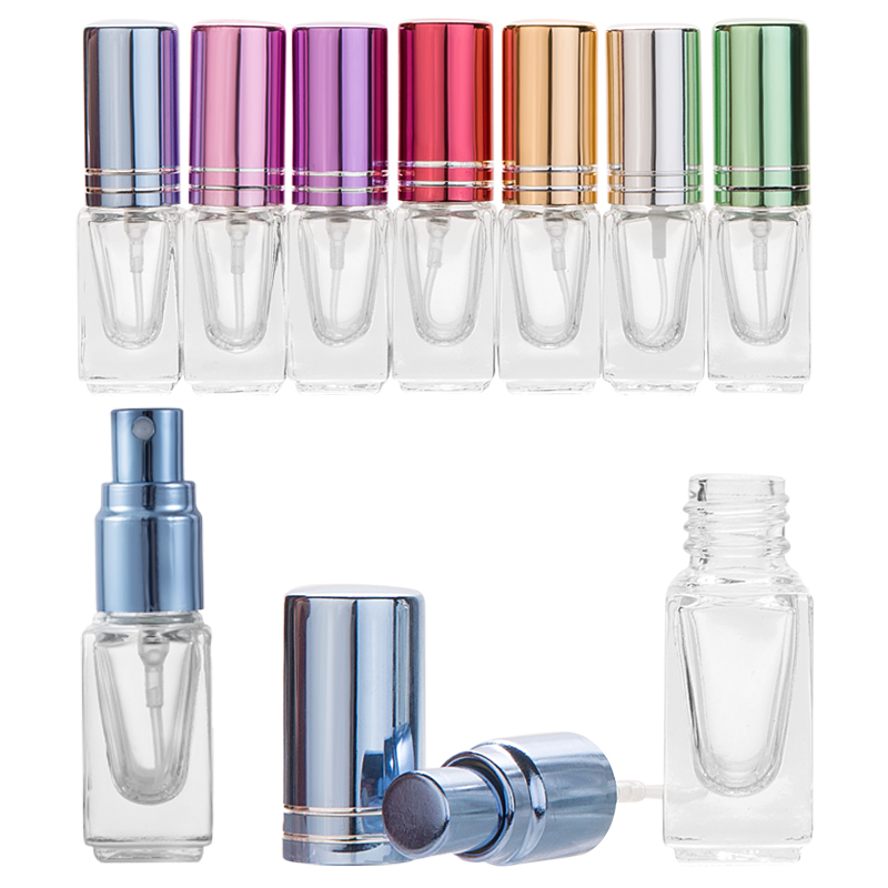 MUB-1pc High Quality 3ml Color Mini Perfume Spray Bottle Glass Spray Atomizer Travel Cosmetic Container Empty Refillable Bottles