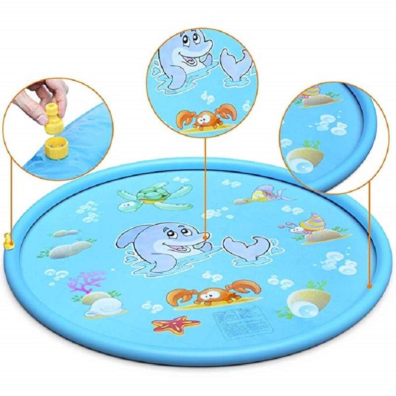 170cm Children Play Water Mat Games Beach Pad Kids Outdoor Water spray Beach Mat Lawn Inflatable Sprinkler Cushion Toys Cushion