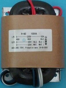 2*20V 2.5A R Core Transformer copper 100VA custom transformer 220VAC input with shield output for Power amplifier r core transformer copper custom transformer 220vac 200va 2 26ac 3 5a 2 15v 0 6a with shield output for power amplifier