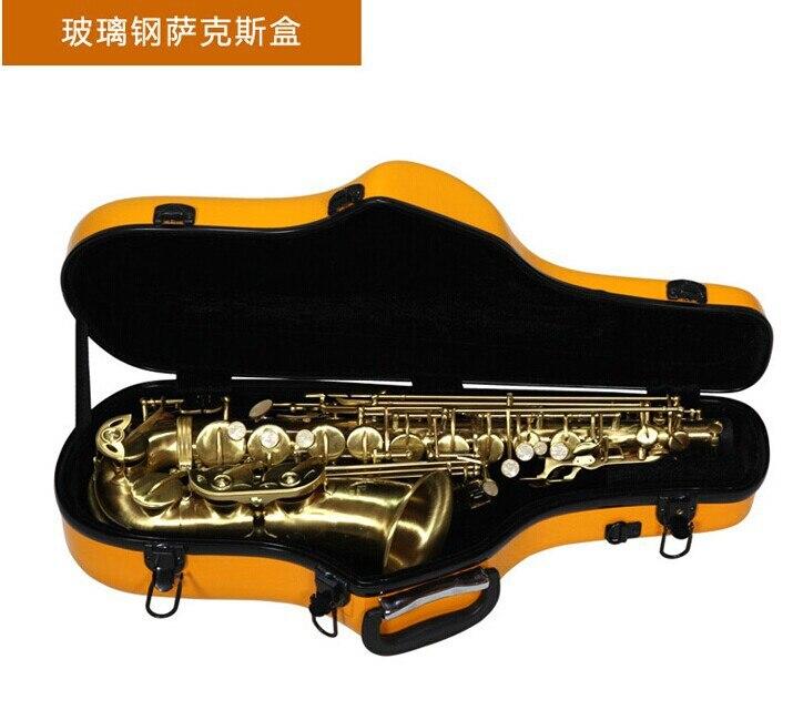 yellow color Alto saxophone Glass Fiber case Light Durable Lock Blue New #001-312 alto saxophone glass fiber case light durable lock blue new white color