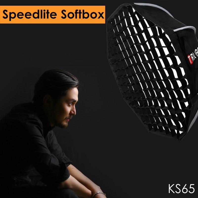 Triopo 65 cm Foto Speedlite Softbox w/Honeycomb Grid Studio Tragbare Outdoor-Octagon Umbralla Weiche Box für Godox yongnuo