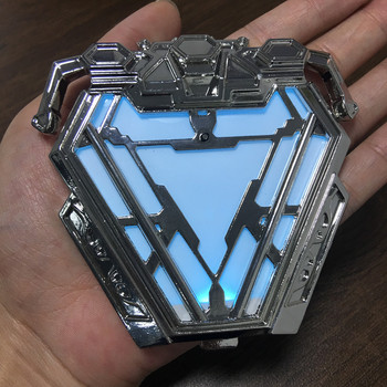1:1 Scale Iron Man MK50 Nano Suit Armor Arc Reactor Collectible Action Figure Model Toys Statue Men Boys Gifts Cosplay Accessory
