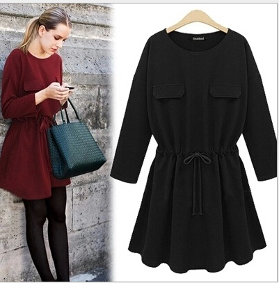 245d0e306a autumn dress woman ladies dresses women casual official work xxl cotton dress  clothes womens clothing online shop china