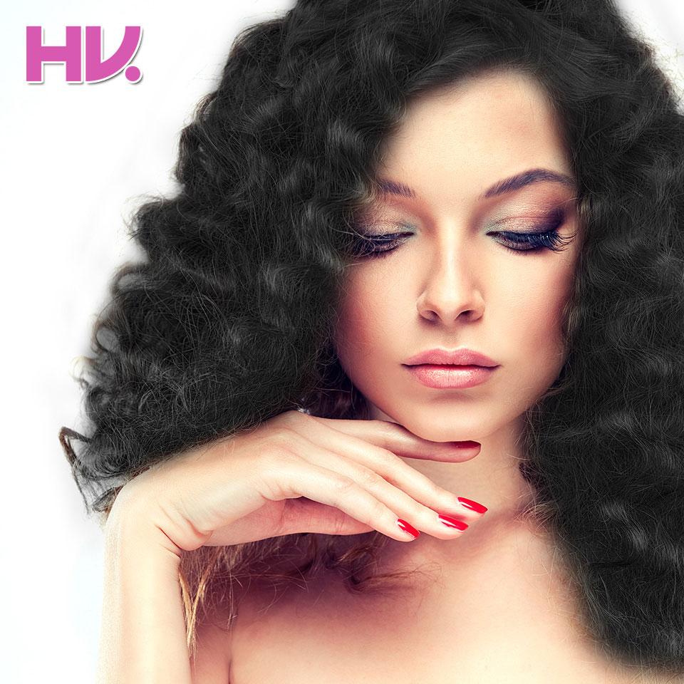 Flokët e flokëve të flokëve Remy Loose thellë me mbyllje - Flokët e njeriut (të zeza) - Foto 4