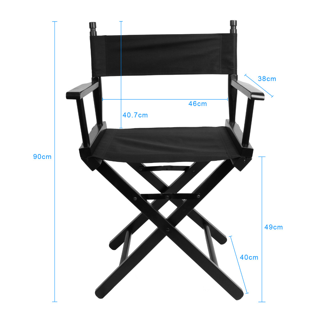 Folding Director Chair Portable Makeup Artist Director Chair Steel Outdoor Camping Fishing Black makeup artist folding director s chair aluminum frame light weight golden color for indoor outdoor use director chair foldable