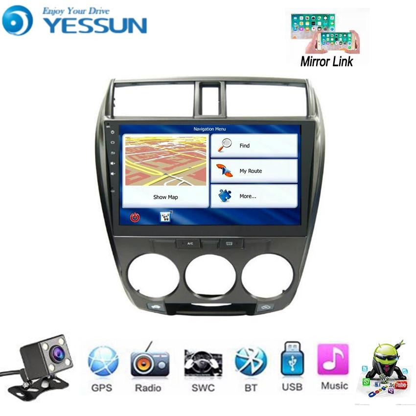 YESSUN For Honda City Ballade 2008~2014 Car Android Multimedia Player GPS Navigation Big Screen AUTO Radio Bluetooth