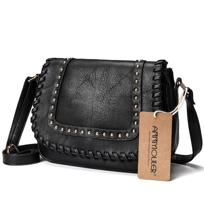 Annmouler модные женские туфли Сумка Кожа Pu Crossbody мешок сплошной Цвет бренд кошелек Малый хаки сумка для дам