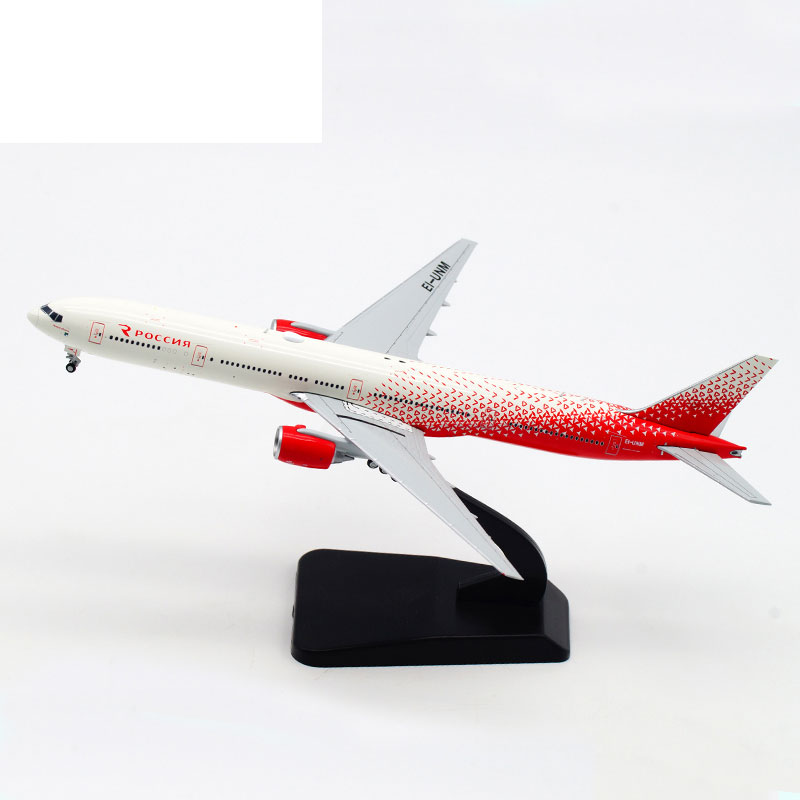 1 400 Aeroflot B777 300 EI UNM Russian Airline Alloy Passenger Aircraft Metal Scale Model Toy