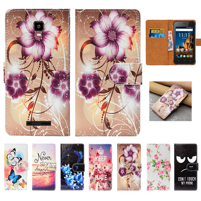 For Senseit R500 Case High Quality Pu Leather 4.7 Print Flip Wallet Case Back Cover Book Case For Senseit R500 Cases