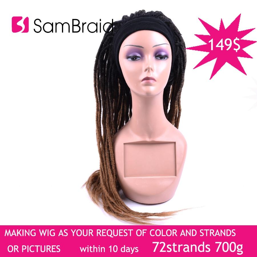 Dreadlocks Handmade Braiding Hair Wig Synthetic Dreads Cap
