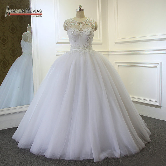 Us 398 0 Bridal Dresses 2017 Full Beading Pearls Patterns Ball Gown Wedding Dress New In Wedding Dresses From Weddings Events On Aliexpress Com