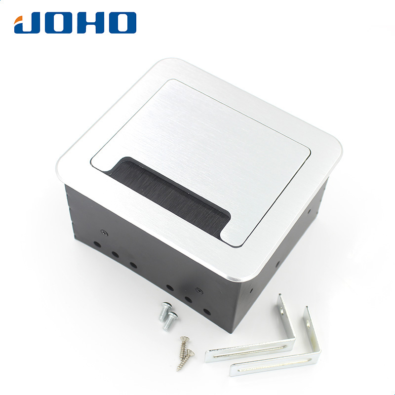 JOHO Multi-Function Desktop Table Socket Box Black Silver Aluminum Alloy EU Plug Phone USB Charger Interface BS-101 torch bs 700 high quality multi purpose zinc alloy windproof lighter black silver red